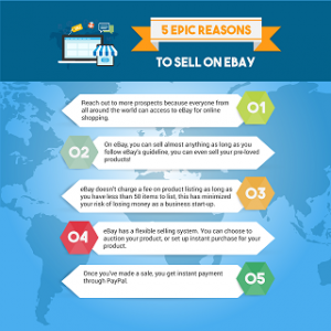 5 Epic Reasons To Sell On ebay 300x300 Infographics E Commerce Expansion