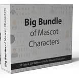BigBundleMascotChar p Big Bundle Of Mascot Cartoon Characters