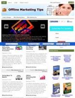 OfflineMarketingTipsBlog plr Offline Marketing Tips Niche Blog