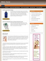 SkinCareBlog plr Skin Care Niche Blog