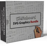 WhiteboardSVGGraphics p Whiteboard SVG Graphics Bundle