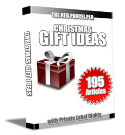 christmas plr articles GIFT 195 Christmas Gift Ideas PLR Articles