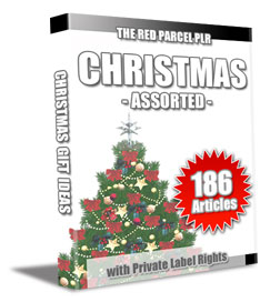 christmas plr articles asso 186 Christmas Assorted PLR Articles